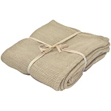 YogaAccessories (TM) Deluxe Cotton Yoga Blanket without Tassels - Off White
