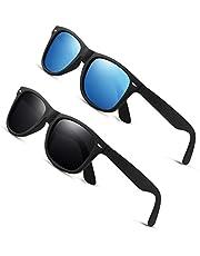 AIMISUV Polarized Sunglasses for Men and Women Matte Finish Sun Glasses Color Lens 100% UV Blocking