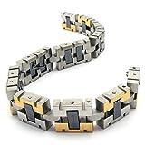 Best Adisaer Mens Bracelets - Adisaer Womens Mens Stainless Steel Bracelets Silver Gold Review