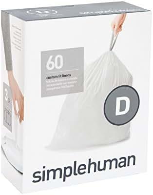 Trash Bags: Simplehuman code D