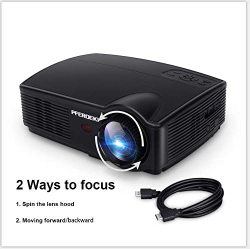 Business Projector, PFERDEKI 4500LM LED 1080p Full HD Office Video Projector for PowerPoint Presentation with HDMI VGA VA USB for PC Smartphone Computer iPad DVD TV (4500LM) by PFERDEKI