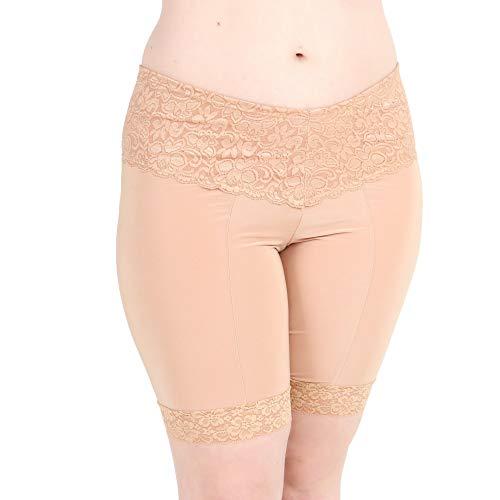 Undersummers Lace Shortlette: Rash Guard Slip Shorts (4X,