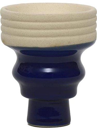 - Large Mya Bevel Porcelain Hookah Burner Bowl/Head - Dark Blue