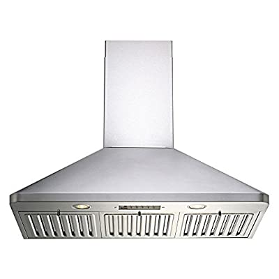 Kobe 36W in. RA9436SQB-1 Wall Mounted Range Hood