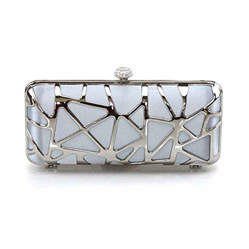 Di Borsa Borsa Personalizzati Donne Moda Seta Delle Di Diamante A Della Frizione Messenger Tracolla Silver xYnqrIY