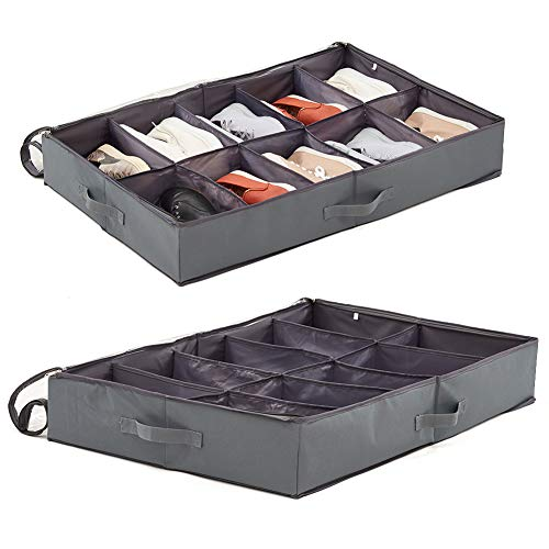 Used, 2 Pack EZOWare Underbed Shoes Storage Bins 10 Pairs for sale  Delivered anywhere in Canada