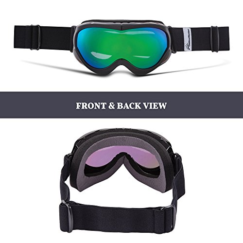 418sMNIKp3L - OutdoorMaster Kids Ski Goggles - Helmet Compatible Snow Goggles for Boys & Girls with 100% UV Protection