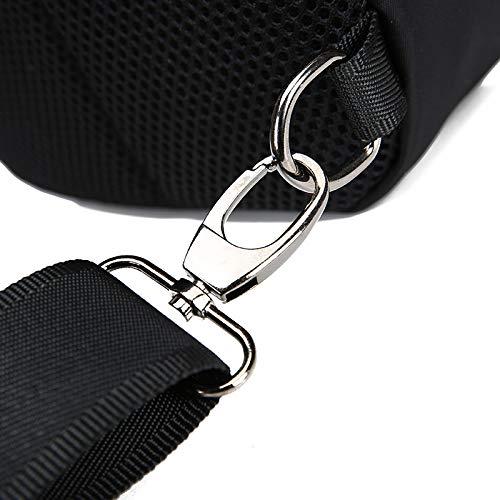Uomini Borsa Di Tracolla Gli nero Kinttnyfgi Multifunzione Moda Zaino Casual Per Sportiva A In Crossbody Nylon OwvSU5q