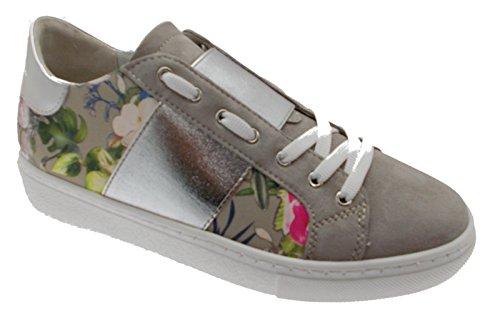 Loren Sable Chaussure C3785 Femme Semelle orthopédique Fleurs Amovible Espadrille AhkTHk9