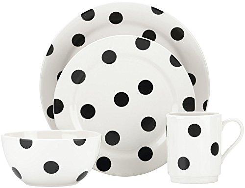 - kate spade new york All in Good Taste Deco Dot Dinnerware Set - White - 12 pc