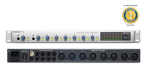 Microphones Accessories PreSonus DigiMax D8 Eight-Channel Preamp with 48  kHz ADAT Output Computer