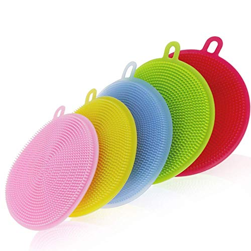 N M Z Cleaning Supplies Sponges Silicone Scrubber for Kitchen Non Stick Dishwashing & Baby Care Sponge Brush Household…