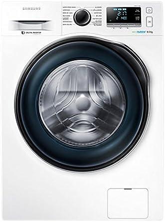 Samsung - Lavadora de carga frontal Ecobubble WW80J6410CW ...