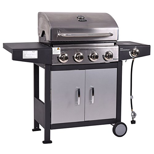 Tangkula 4 Burner Gas Porpane Grill Stainless Steel Outdoor Patio Cooking BBQ