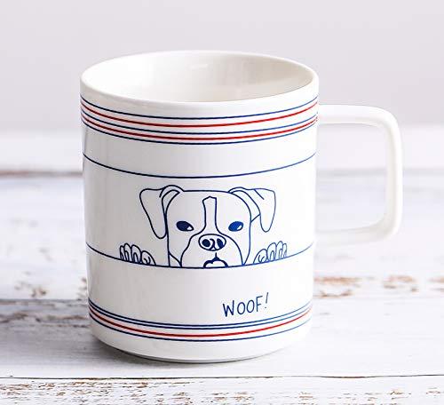 (Dog Mug Novelty Coffee Mug Cute Ceramic Mug Funny Dog Coffee Mug for Dog Lovers Toshine Creative Breakfast Milk Cup for Kids Children Milk Coffee Water Hot Cold Beverages Drinks Cup 13 Oz)