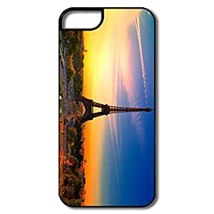 IPhone 5/5S Covers, Eiffel Tower Sunrise White/black Cover For IPhone 5 5S