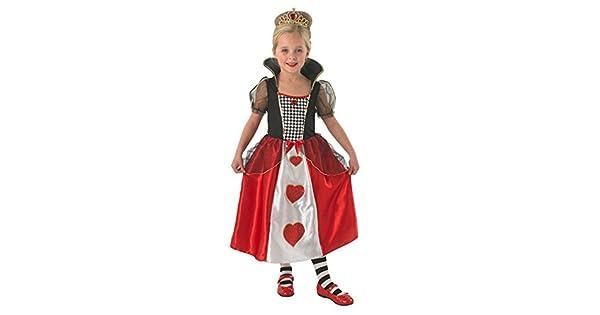 Amazon.com: Reina de Corazones Disfraz – niños – M 5 – 6 ...