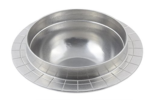 - Bon Chef 3050PG Aluminum/Pewter Glo Soup Well for Round Chafer, 2 gal Capacity, 15-1/2