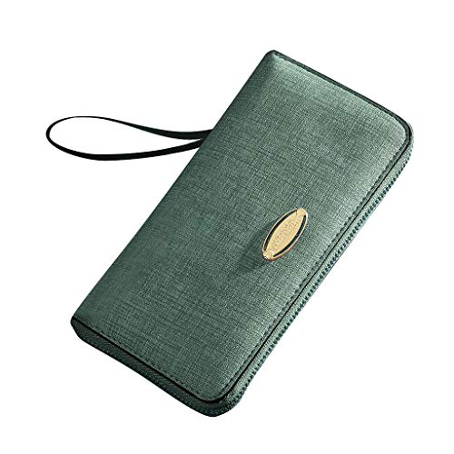 Blocking Slim Genuine Leather Minimalist Front Pocket Wallets for Men with Money Clip