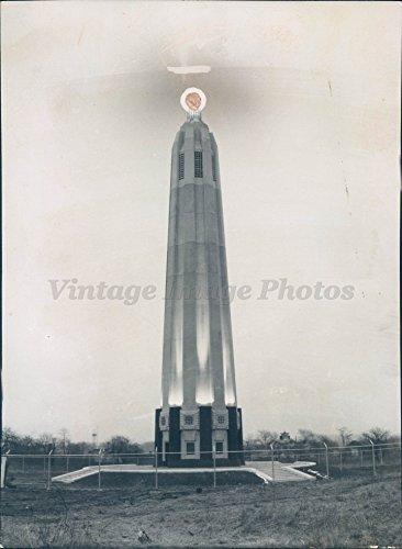 1954 Photo Thomas Edison Tower Menlo Park NJ Memorial Historic Vintage - Park Menlo Edison Nj