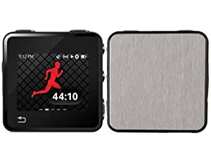 Skinomi TechSkin - Protector de pantalla Funda de fibra de acero pulido y Protector de pantalla para Motorola Motoactv + garantía de por vida