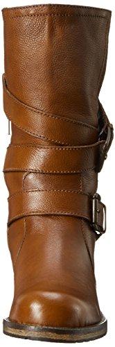 Dune London Women Rocking Motorcycle Boot Tan Leather