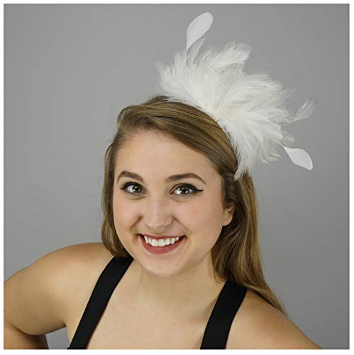 LadyAnn Headband Feather Hair Accessories - Flapper Style