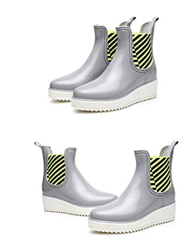 antiscivolo Stivali da pioggia moda gray Scarpe nPwR7S8Sq