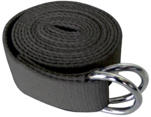 MERRITHEW Yoga Strap, 100% Cotton (Charcoal), 118 inch / 300 cm by Merrithew