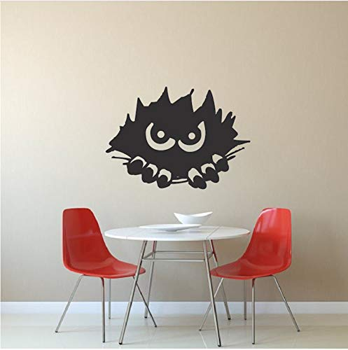 hwhz Monster Peeking Wall Stickers Home Nursery Bedroom