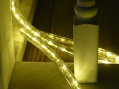 LED ROPE LIGHT 3-WIRE CHASING, WARM WHITE LED ROPE LIGHT KIT FOR 120V, Christmas Lighting, Outdoor Rope Lighting