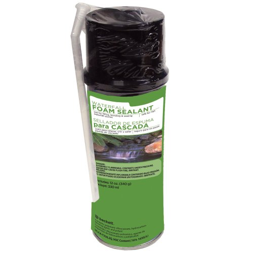 Black Pond Foam (Beckett Corporation Waterfall Foam Sealant)