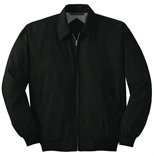 (Joe's USA Men's Big Casual Microfiber Jacket-Black-XL )