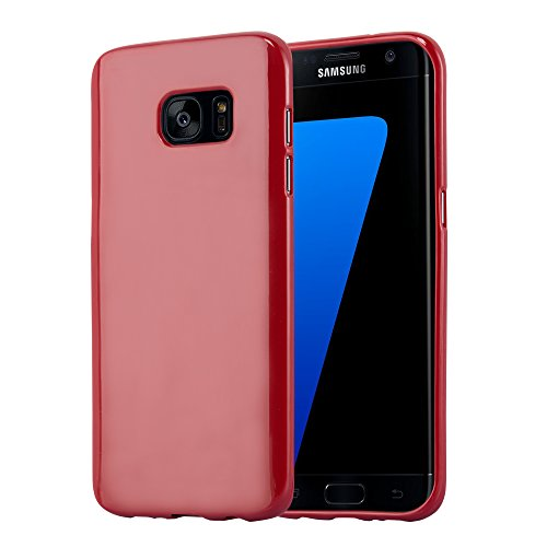 Cadorabo - Cubierta protectora para Samsung Galaxy S7 EDGE de silicona TPU en Diseño Jelly - Case Cover Funda Carcasa Protección Jalea en JELLY-VERDE JELLY-ROJO