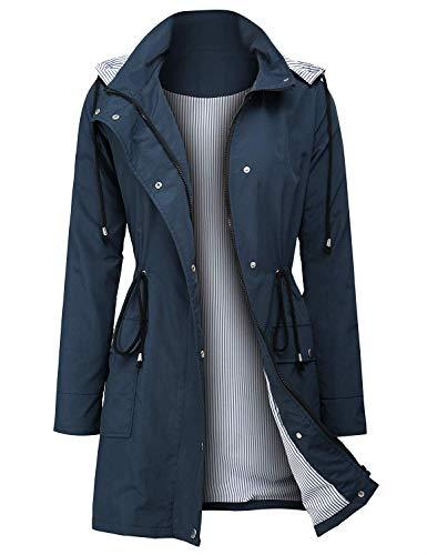 ZEGOLO Women Raincoat Outdoor Sport Lightweight Waterproof Hooded Rain Jacket