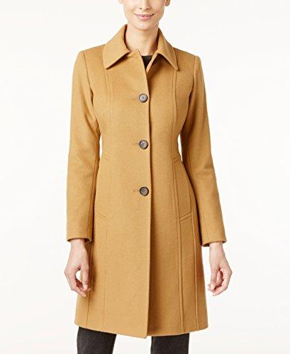 - Anne Klein Women's Single Breasted Wool Cashmere Blend Walker Coat, Camel (10)