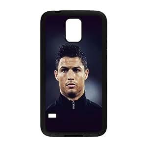 Samsung Galaxy S5 Cell Phone Case Black Cristiano Ronaldo Sports Face SP4155346