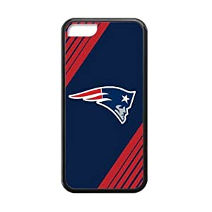 Blue Background New England Patriots Simple Stylish Design Iphone 5c Case Shell Cover (Laser Technology)