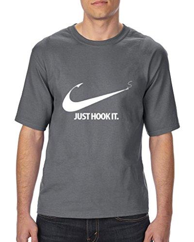 Xekia Just Hook It Fishing Catch Big Fish Unisex T-Shirt Tall Sizes X-Large Tall Sport Grey (Sweatshirt Adult People)