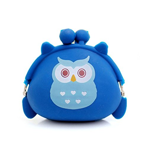 LUNIWEI Women Owl Style Silicone Jelly Coin Purse Key Card Holder Mini - Finder Wizards Event