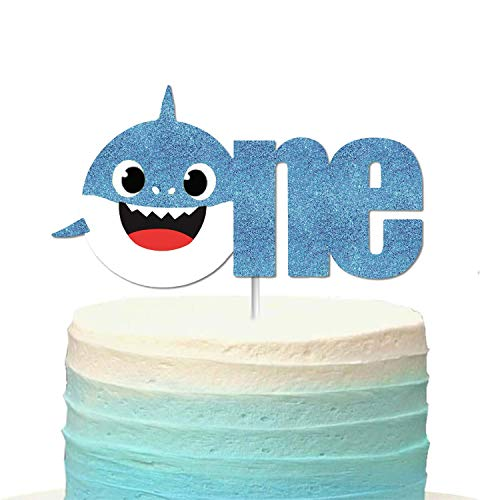 OMG Party Factory - Baby Shark Cake Topper - 1st Birthday/Baby Shower (Blue)]()