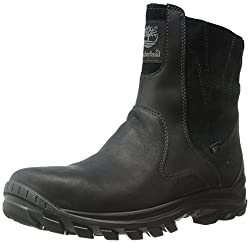 Timberland Men's Chillberg Mid Side-Zip INS WP Winter Boot, Black, 12 M US
