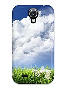 New HXJcMjb4751NfIvf Sky And Flowers Skin Case Cover Shatterproof Case For Galaxy S4
