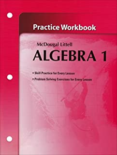 Amazon mcdougal littell algebra 2 applications equations mcdougal littel algebra 1 practice workbook holt mcdougal larson algebra 1 fandeluxe Image collections