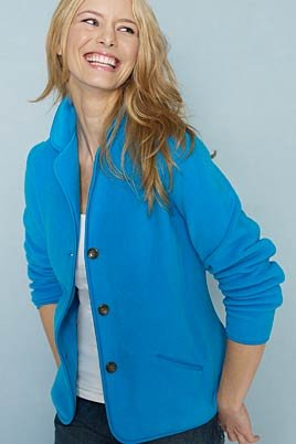 Women's Tall Stretch Fleece Cardigan (UK Size 14 - 16, BRIGHT ...