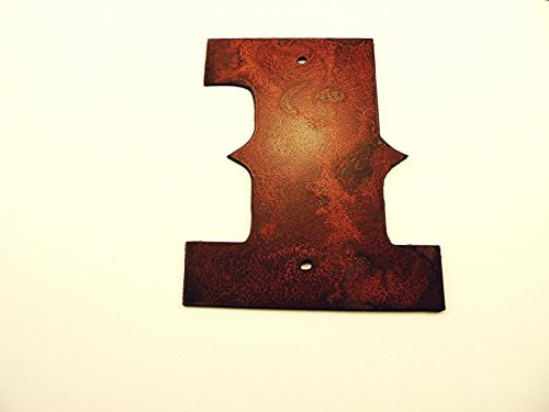 Saddlebag Western House Number Metal Rustic Rusted 6 inches high