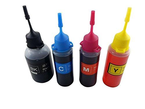 j2ink 4x 50ml Kit de recambio para HP 301HP 301X L HP 302HP 302X L HP 304HP 304x l Cartucho de tinta