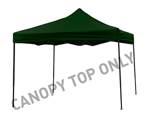9.6' x 9.6' Square Replacement Canopy Gazebo Top Assorted Colors By Trademark Innovations (Dark Green)