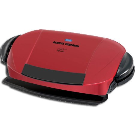 George Foreman 5-Serving Grill with Removable Plates, Red, GRP0004R by George Foreman Grillls