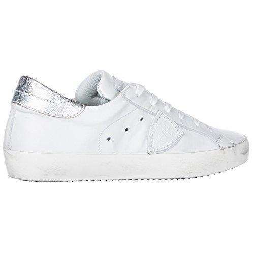Model Blanc Sneakers Femme Chaussures Cuir en Baskets Philippe Paris ATwdnA